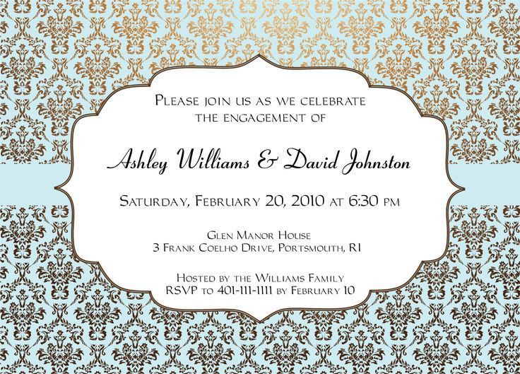 Wonderful Engagement Invitation Cards Templates 45 For 60Th ...