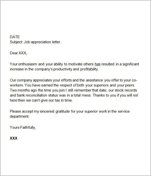 Sample Appreciation Letter. Monster Thank You Letter Monster Thank ...