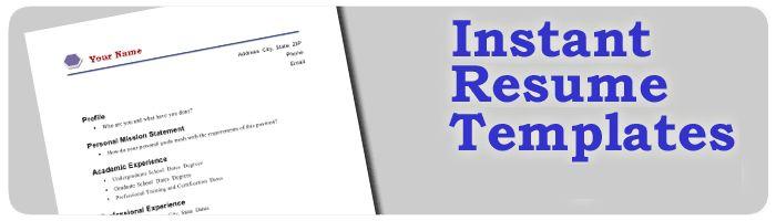 Instant Resume Templates 9 Instant Resume Templates. Logo ...
