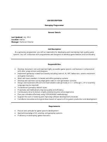 Programmer Job Description. Dibutuhkan Programmer Job Description ...