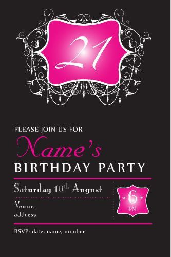 Best 25+ 21st invitations ideas on Pinterest | 21st birthday ...