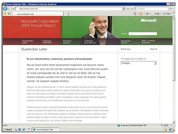 Microsoft Online Annual Report on Behance
