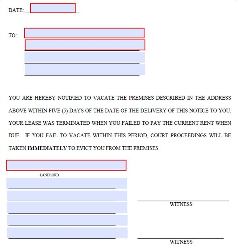 lease termination letter template - Free Word, PDF Documents ...