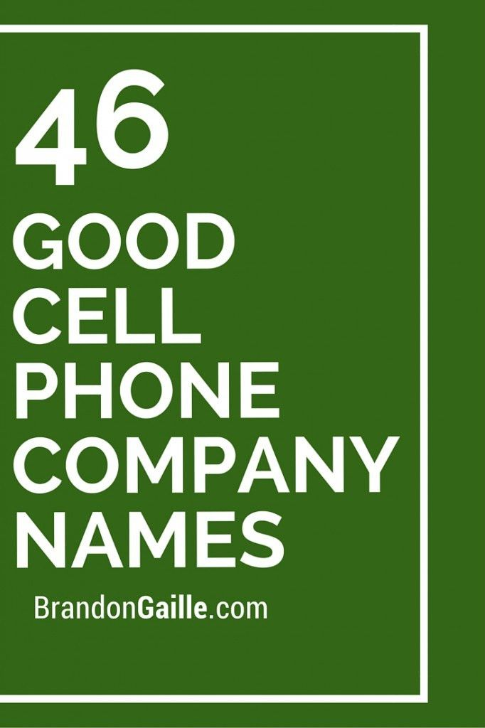 47 Good Cell Phone Company Names | Phone companies