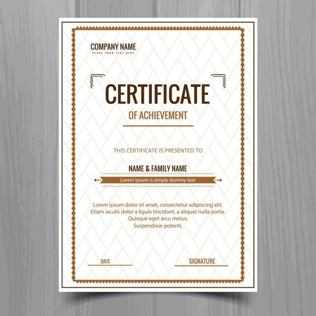 Simple certificate template Vector | Free Download