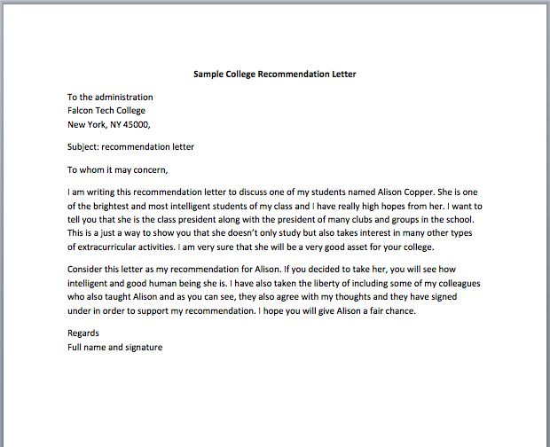 Employment Recommendation Letter – Smart Letters