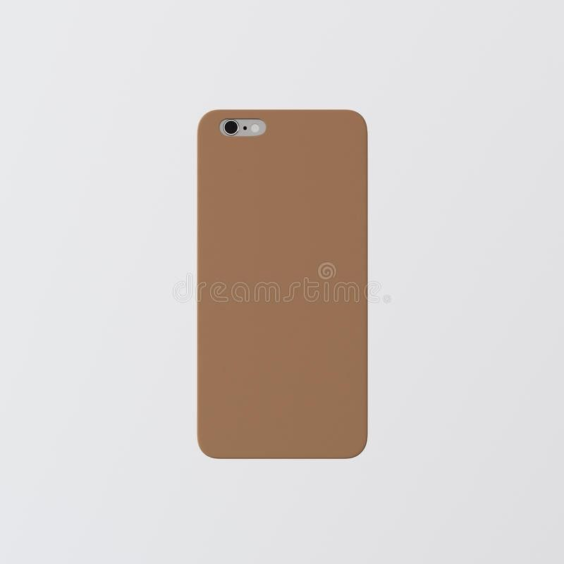 Closeup One Blank Brown Clean Template Cover Phone Case Smartphone ...