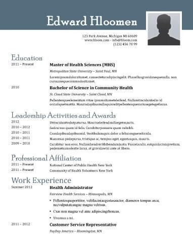 resume templates for openoffice
