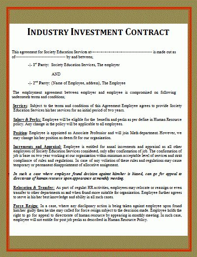 5+ investment contract templateReport Template Document | report ...