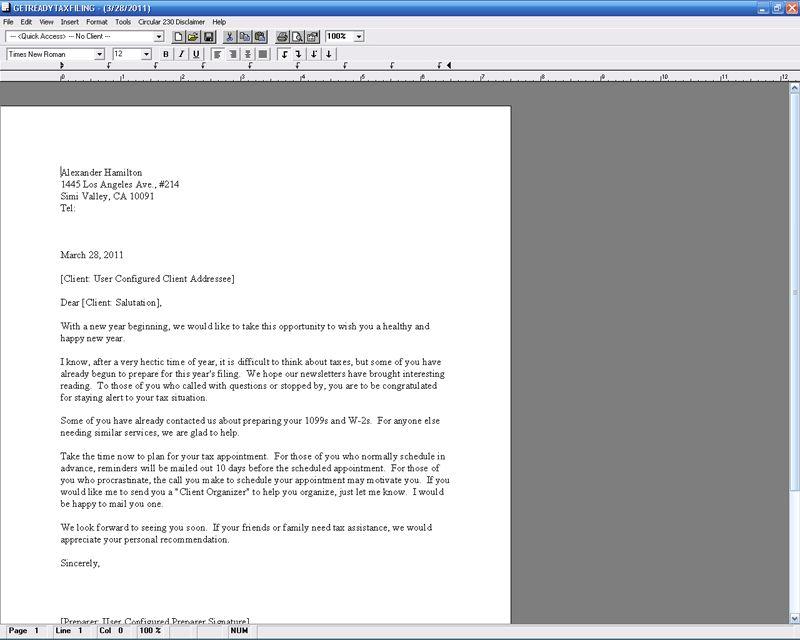 Tax Corresponder - CFS Tax Software, Inc. - Software for Tax ...