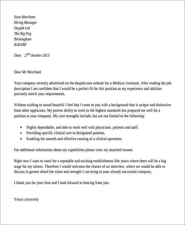 Medical Assistant Thank You Letter Sample. Medical Assistant ...