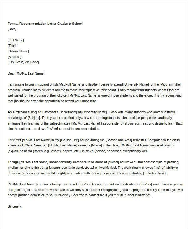 35+ Simple Recommendation Letter Templates   Free Word, PDF .