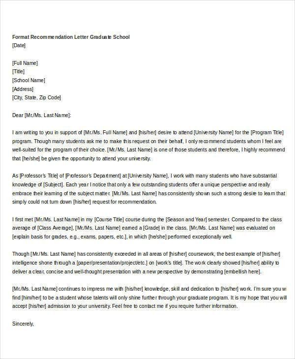 Formal Letter Of Recommendation. Sample Letter Of Recommendation .