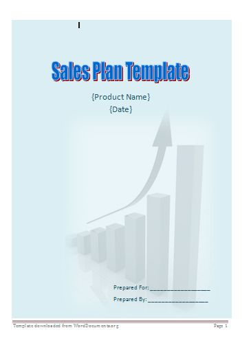 Sales Plan Template – Word Documents