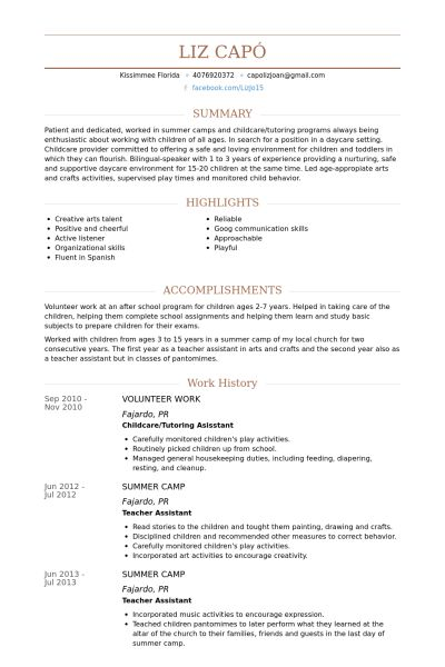 Volunteer Work Resume samples - VisualCV resume samples database