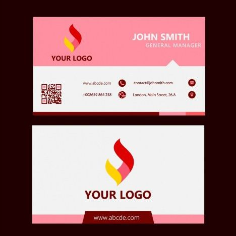 Corporate name card design technological symbol decoration ...