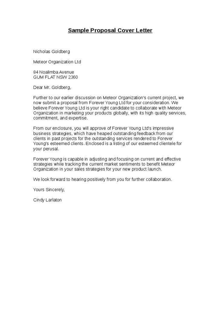 submittal cover letter template