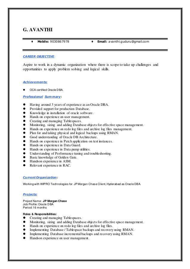 Dba Resume | haadyaooverbayresort.com