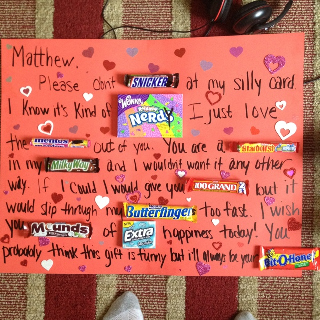 Candy Birthday Card Boyfriend Totally Want To Do This For Ayush