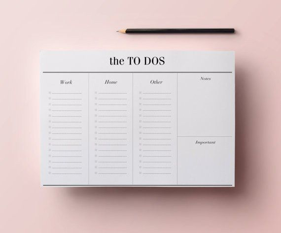 To Do List Planner Printable A4 Work Planner Minimalist