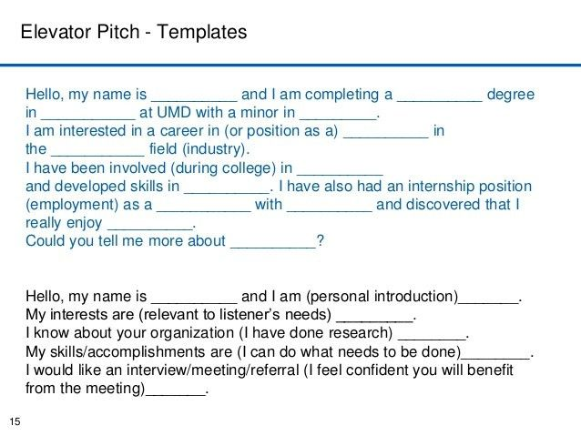 Elevator Pitch Template Elevator Pitch Template Wall Skillscom – Elevator Pitch Example