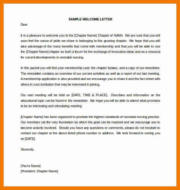 10+ sample of welcome letter | resume holder