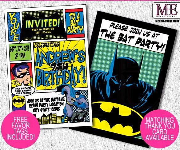 19 + SuperHero Birthday Invitations – Free PSD, Vector EPS, AI ...