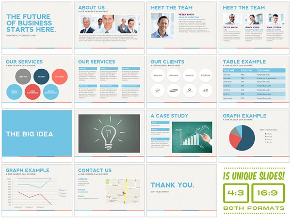 Universal Pitch Deck One PowerPoint Template on Behance