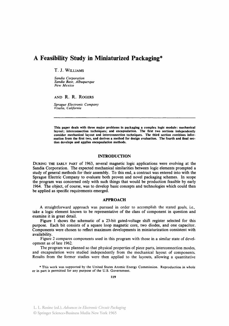A Feasibility Study in Miniaturized Packaging - Springer