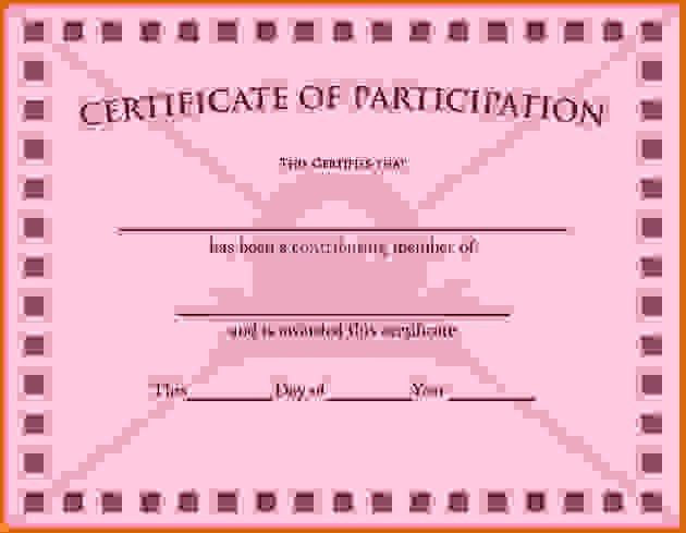 certificate of participation templateReference Letters Words ...