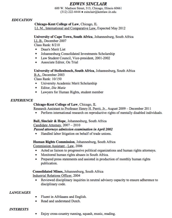 Sample Candidate Attorney Resume - http://exampleresumecv.org ...
