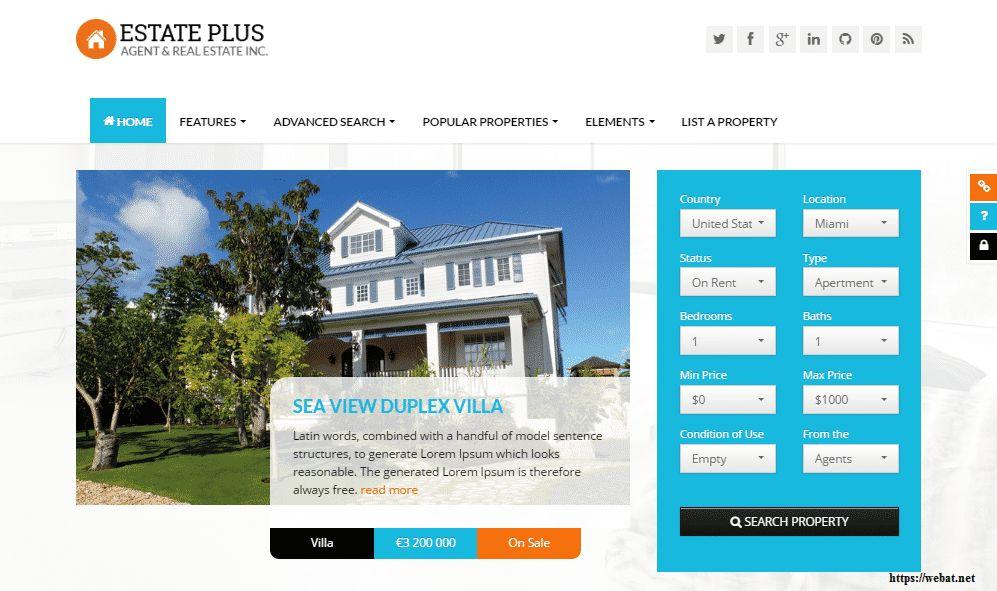 Best 71+ Real Estate Website Templates Designs - Web@.net