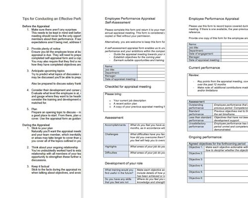 Performance Appraisal Forms | Free Appraisal Toolkit