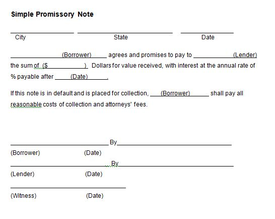 21+ Free Promissory Note Template - Word Excel Formats
