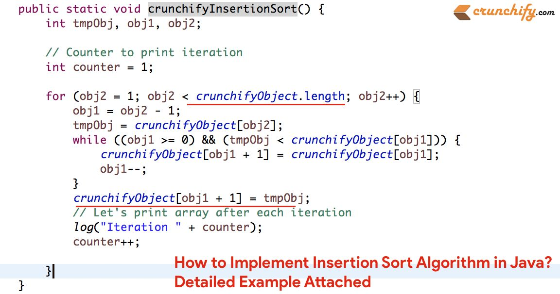 How to Implement Insertion Sort Algorithm in Java? Detailed ...