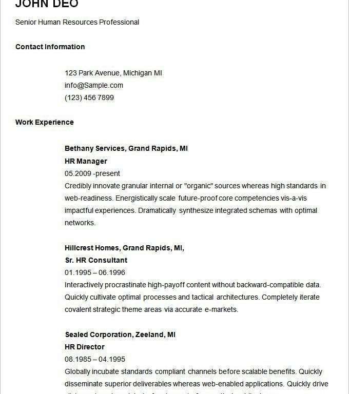 Stunning Design Easy Resume Examples 4 Basic Resume Template 51 ...