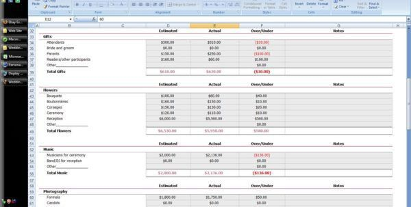 Wedding Budget Spreadsheet Uk Wedding Spreadsheet Templates ...