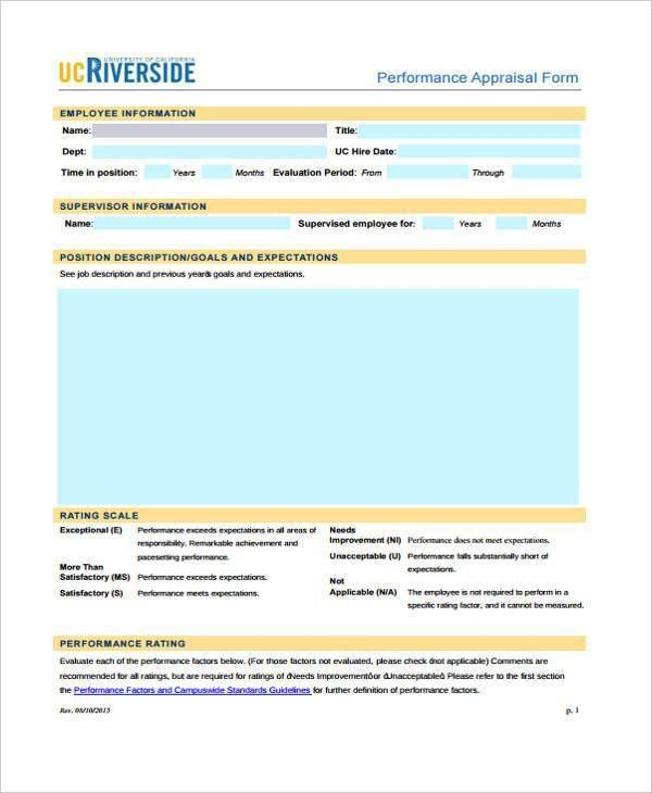 7+ Retail Appraisal Sample Forms - Free Example, Sample, Format ...