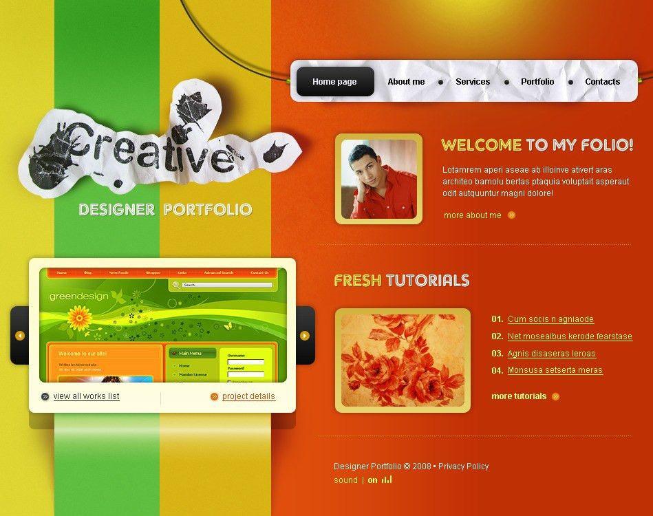 Website Template #21219 Creative Design Studio Custom Website ...