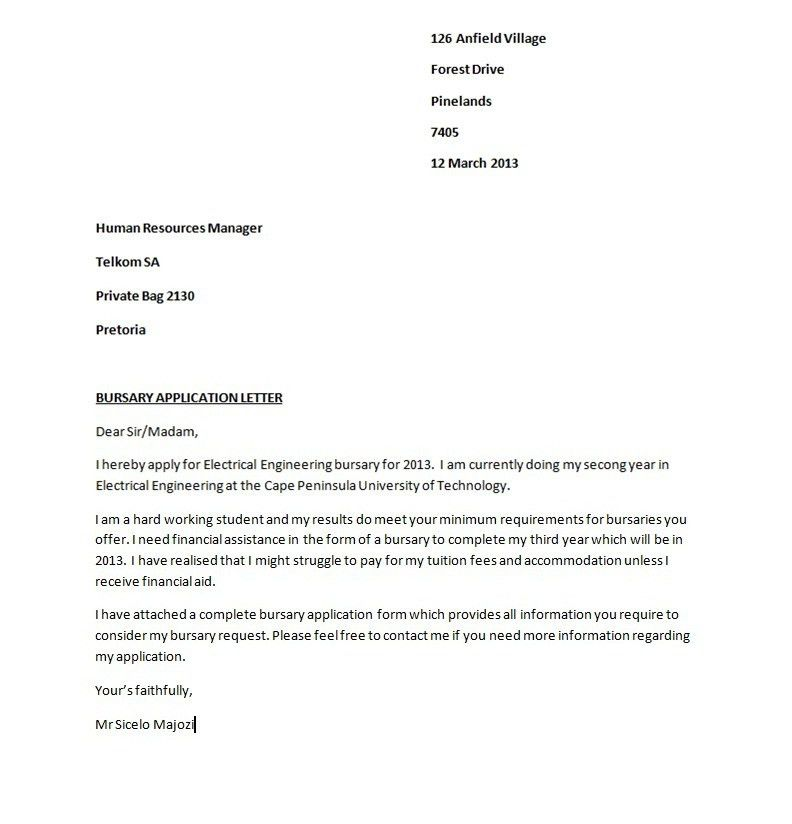 Application Sample. 20 Application Cover Letter Format ...