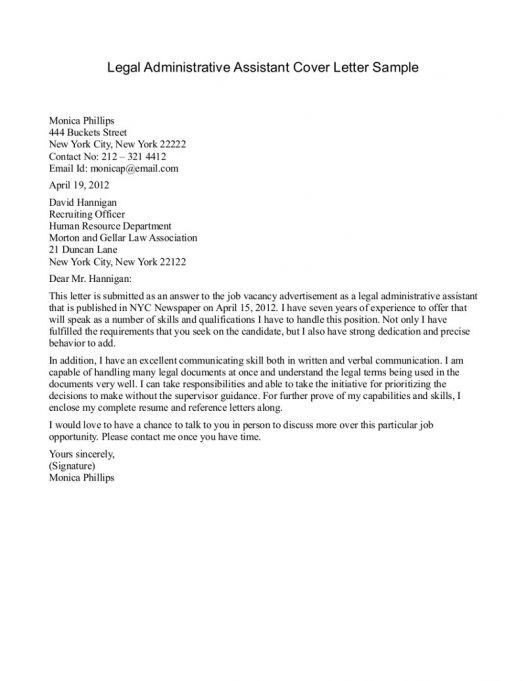 Cover Letter For Office Assistant. Administrative Assistant Cover ...