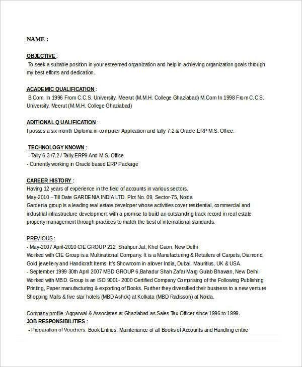 Professional Sales Resume Templates - 31+ Free Word,PDF Document ...