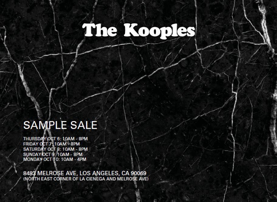 The Kooples LA Sample Sale, Los Angeles, October 2016