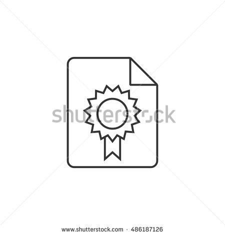 Contract Document Icon Flat Color Style Stock Vector 482627236 ...