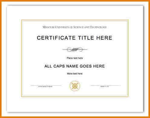 Diploma Word Template [Nfgaccountability.com ]