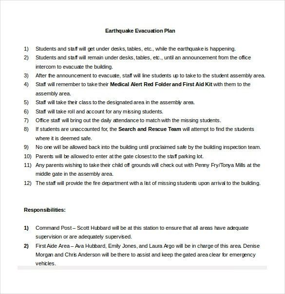 11+ Evacuation Plan Templates – Free Sample, Example, Format ...