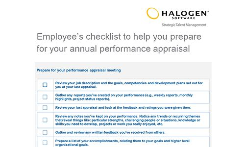 Employee performance appraisal checklists | Download toolkit
