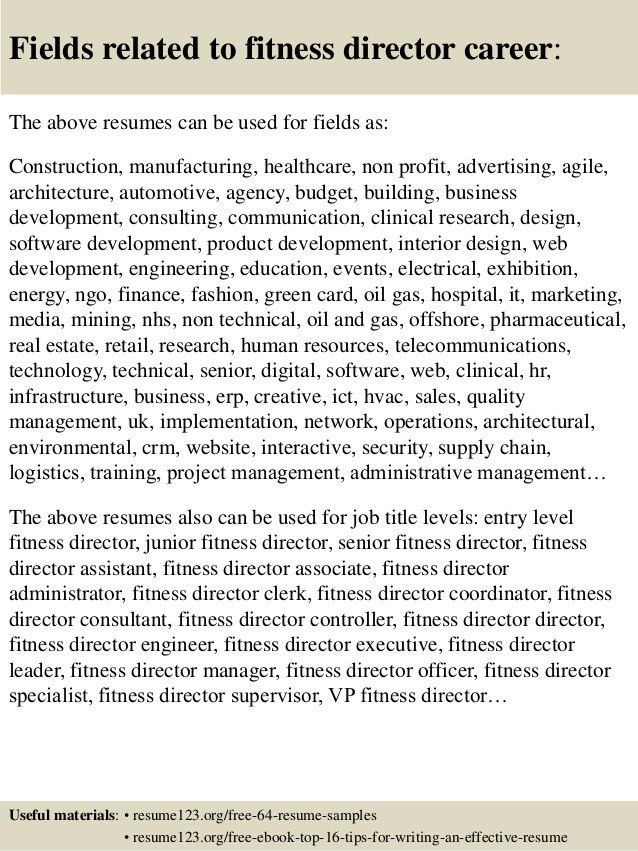 wellness director 2. fitness manager resume. salon manager. we ...
