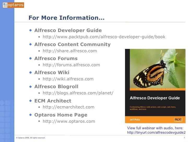 Alfresco Content Model, Rules, and Actions [A Developer's Intro to Al…