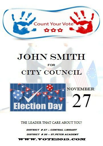 Election poster template microsoft word | Free Political Campaign ...
